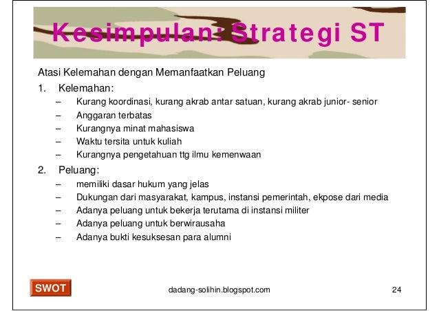 Analisis Swot Untuk Penyusunan Strategi