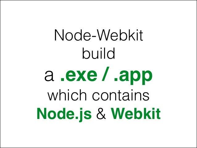 Native Desktop App with Node js Webkit (HTML, CSS & Javascript)