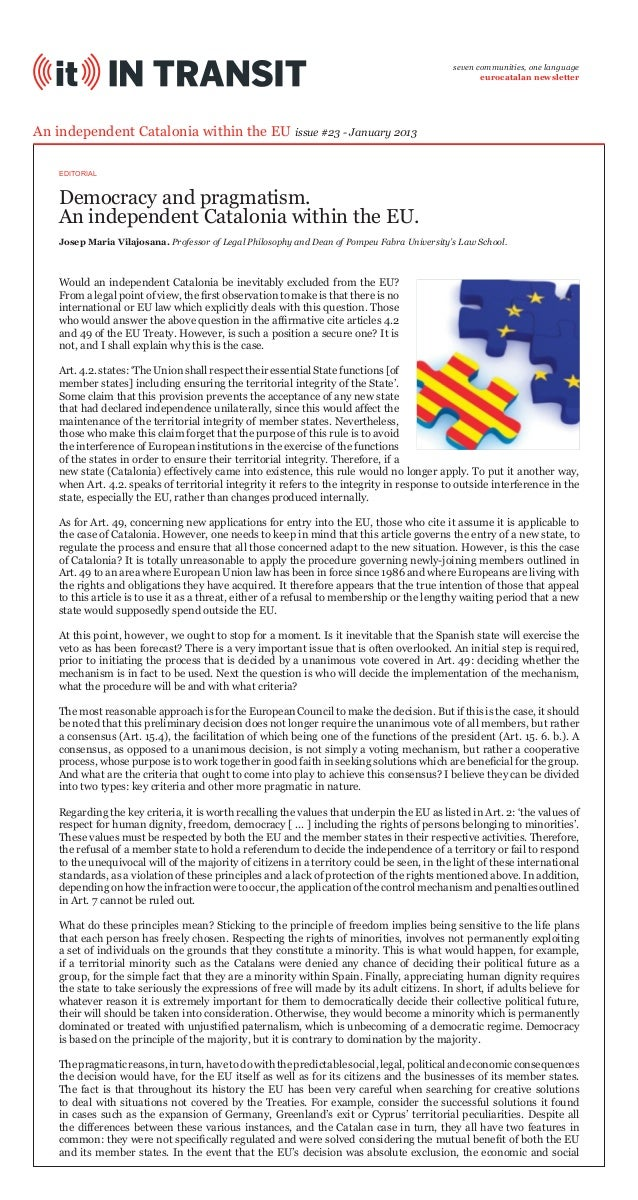 seven communities, one language eurocatalan newsletter  An independent Catalonia within the EU issue #23 - January 2013 ED...