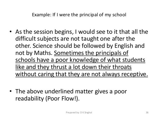 Essay on principal of a school