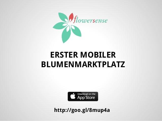 ERSTER MOBILER BLUMENMARKTPLATZ  http://goo.gl/8mup4a