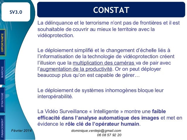 Prospective vidéoprotection 3.0 Slide 2