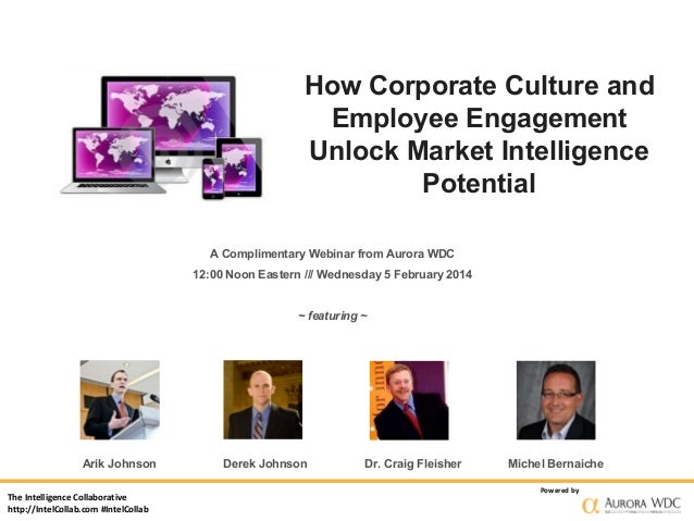 How Corporate Culture and Employee Engagement Unlock Market Intelligence Potential A Complimentary Webinar from Aurora WDC...