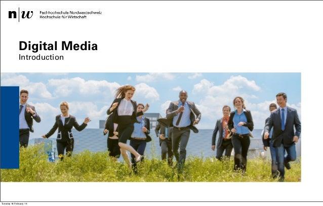 Digital Media Introduction  Institut für Wirtschaftsinformatk / Institut Visuelle Kommunikation – Safak Korkut Tuesday 18 ...