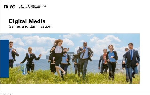 Digital Media  Games and Gamification  Institut für Wirtschaftsinformatk / Institut Visuelle Kommunikation – Safak Korkut ...