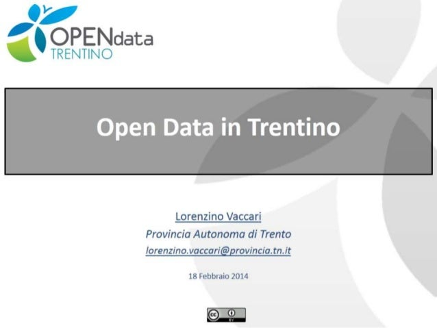 Open Data project in Trentino