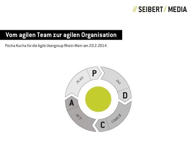 Vom agilen Team zur agilen Organisation Pecha Kucha für die Agile Usergroup Rhein-Main am 20.2.2014