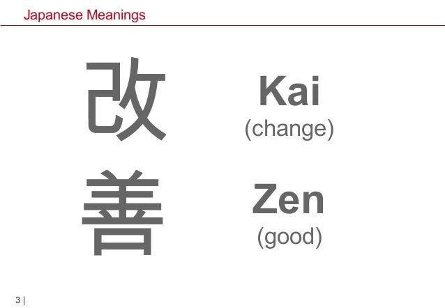 Japanese meanings from Lean Thinking