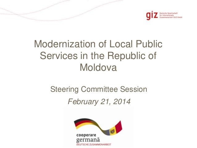 Modernization of Local Public Services in the Republic of Moldova Steering Committee Session February 21, 2014  Pagina 1
