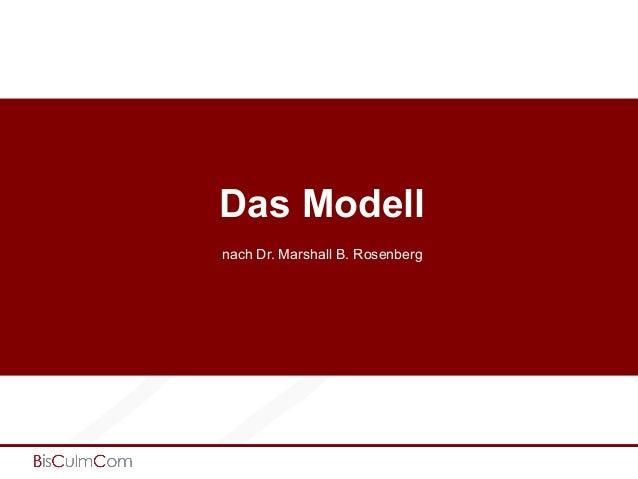 Das Modell nach Dr. Marshall B. Rosenberg