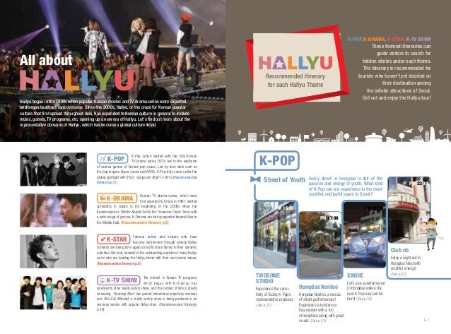 All about Recommended Itinerary for each Hallyu Theme Hallyu began in the 1990s when popular Korean movies and TV drama se...