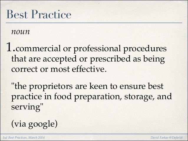 IxD Best Practices, March 2014 Slide 3
