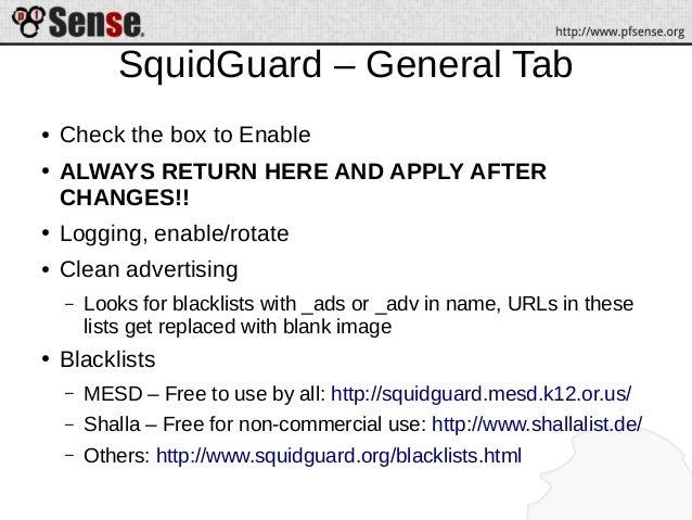 Squid, SquidGuard, and Lightsquid - pfSense Hangout March 2014