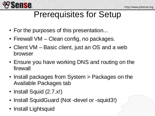 Squid, SquidGuard, and Lightsquid - pfSense Hangout March 2014