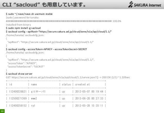 $ sudo ~/.nave/nave.sh usemain stable [sudo] password for tanaka: ########################################################...