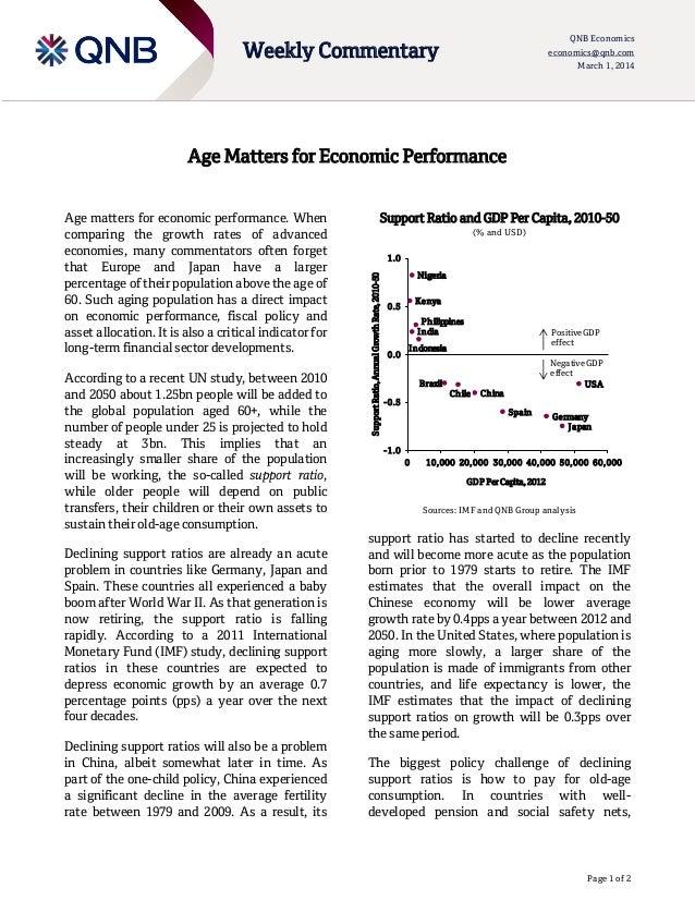 QNB Economics economics@qnb.com March 1, 2014  Weekly Commentary  Age Matters for Economic Performance  According to a rec...