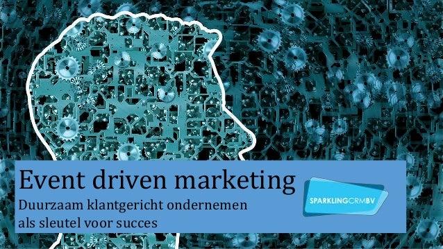 Event driven marketing Duurzaam klantgericht ondernemen als sleutel voor succes