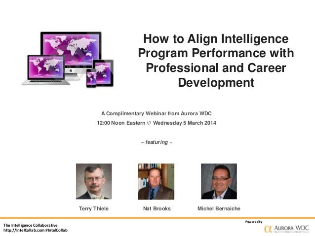How to Align Intelligence Program Performance with Professional and Career Development A Complimentary Webinar from Aurora...