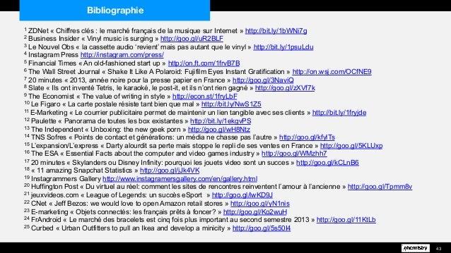 43 1 ZDNet « Chiffres clés : le marché français de la musique sur Internet » http://bit.ly/1bWNi7g 2 Business Insider « Vi...
