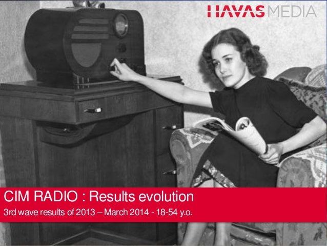 CIM RADIO : Results evolution 3rd wave results of 2013 – March 2014 - 18-54 y.o.