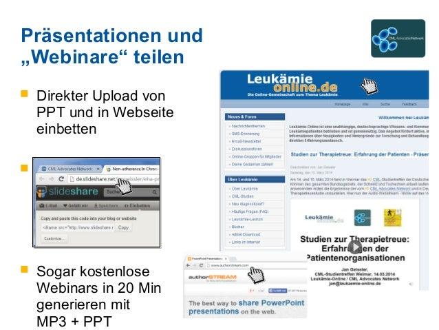  Direkter Upload von PPT und in Webseite einbetten  ebseite einbetten  Sogar kostenlose Webinars in 20 Min generieren m...