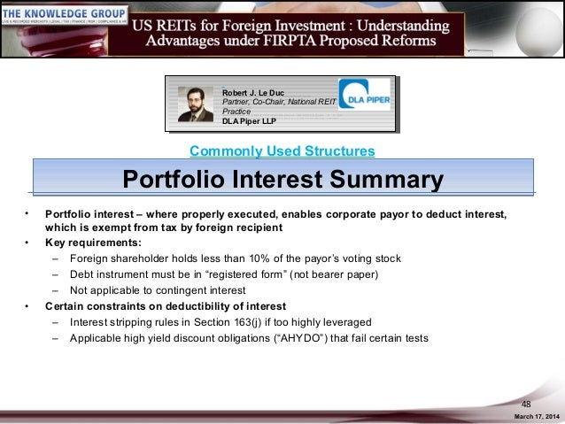 US REITs for Foreign Investment: Understanding Advantages under FIRPT…
