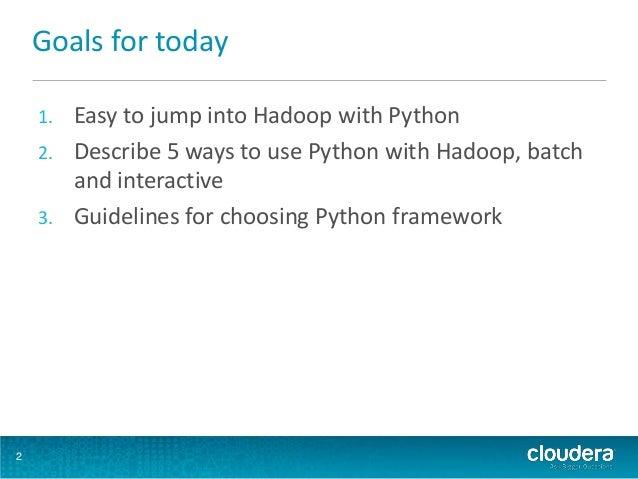Python in the Hadoop Ecosystem (Rock Health presentation) Slide 2