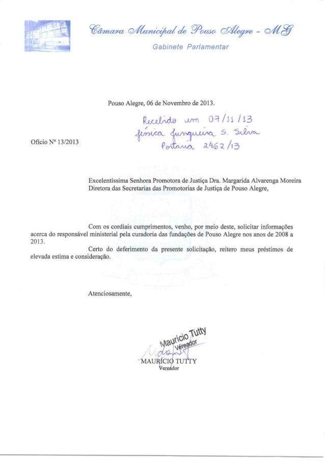 Ofícios encaminhados pelo vereador Maurício Tutty ao MP
