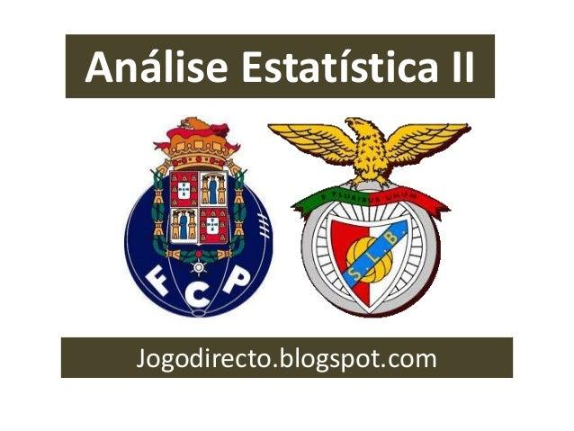 Análise Estatística II Jogodirecto.blogspot.com