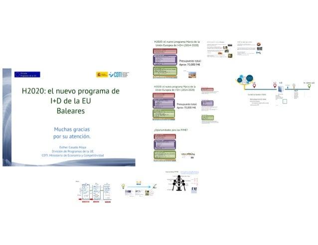¡Éuï i' '¡EÜTIÉ  H2020: el nuevo programa de I+D de la EU Baleares  Muchas gracias por su atención.  Esrhnrasano Moya  Q W...