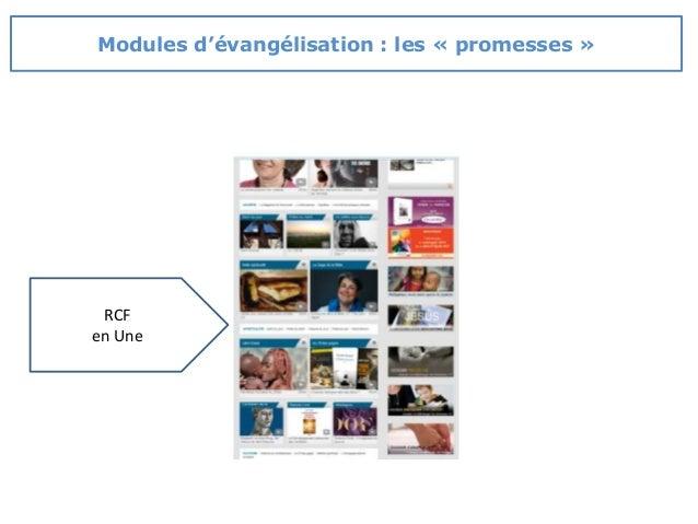 RCF en Une Modules d'évangélisation : les « promesses »