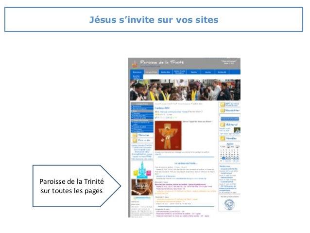 Paroisse de la Trinité sur toutes les pages Jésus s'invite sur vos sites