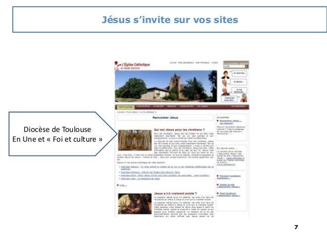7 Diocèse de Toulouse En Une et « Foi et culture » Jésus s'invite sur vos sites