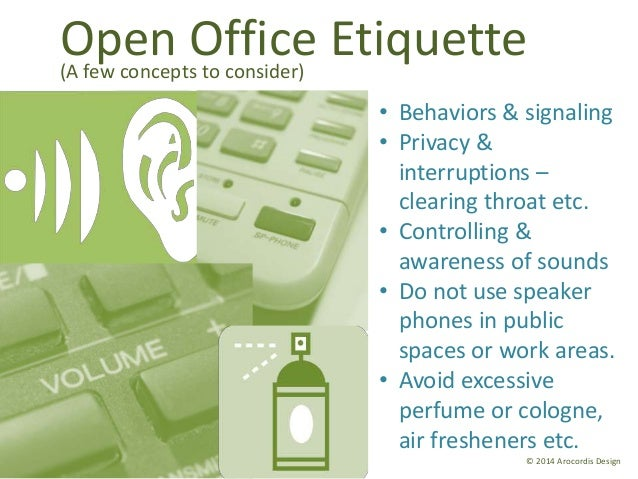 Rules Of Open Plan Office Kitchen