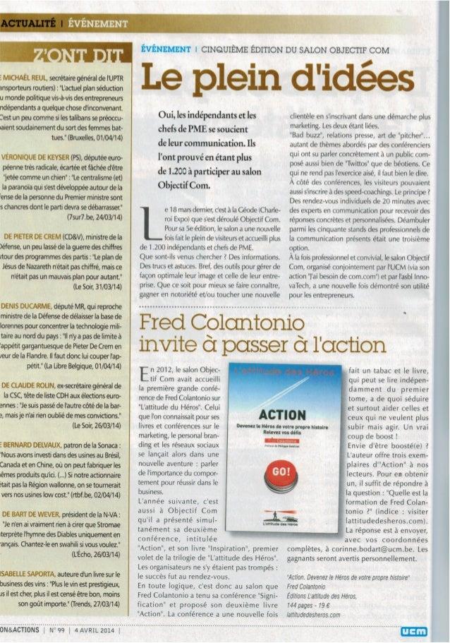 Fred Colantonio invite à passer à l'action et devenir les Héros de votre propre histoire
