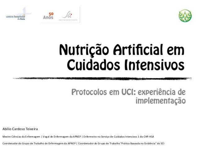 Abílio Cardoso Teixeira Mestre Ciências da Enfermagem | Vogal de Enfermagem da APNEP | Enfermeiro no Serviço de Cuidados I...
