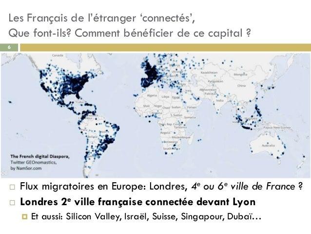 Les Français de l'étranger 'connectés', Que font-ils? Comment bénéficier de ce capital ? 6  Flux migratoires en Europe: L...