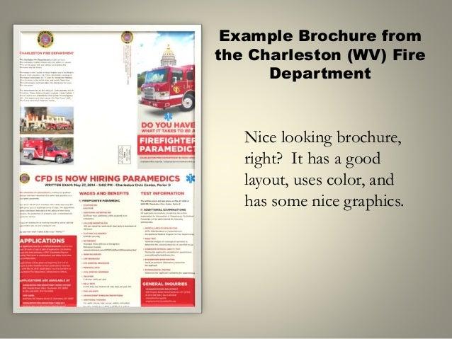tips for creating a better firefighter recruitment brochure