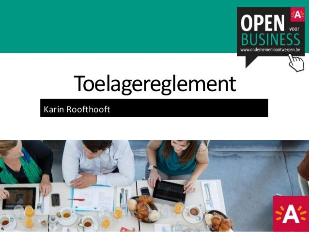 Karin Roofthooft Toelagereglement