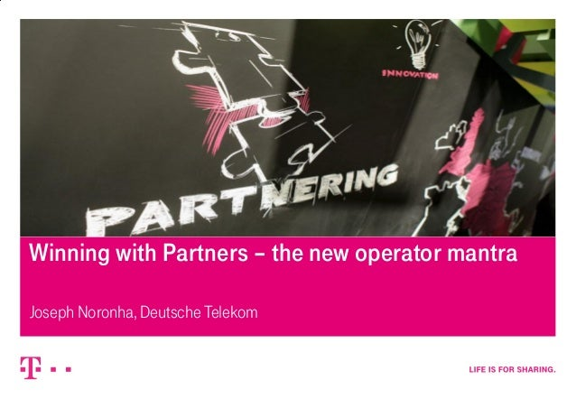 4/11/2014– strictly confidential, confidential, internal, public – 1 Winning with Partners – the new operator mantra Josep...