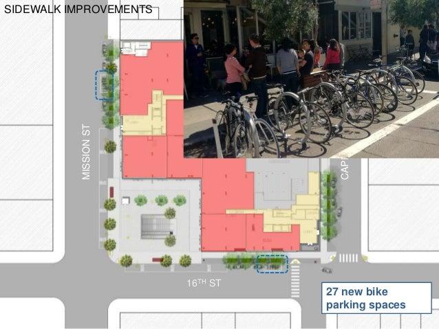 MISSIONST CAPPST 16TH ST ADAIR ST SIDEWALK IMPROVEMENTS 27 new bike parking spaces