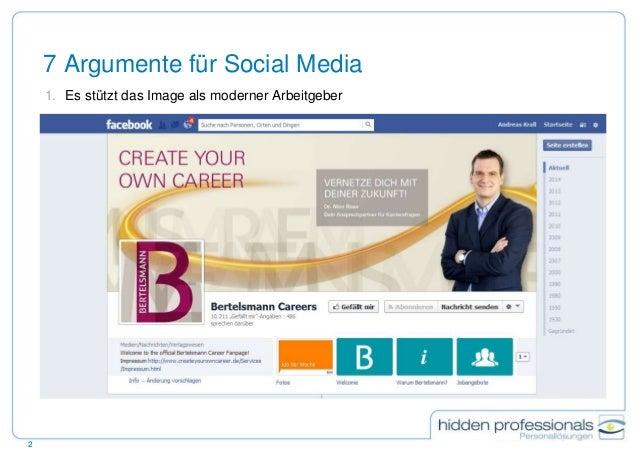 Brauchen Recruiter facebook? Slide 2
