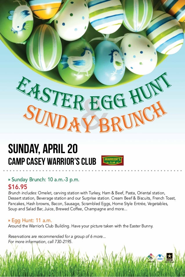 Easter Egg Hunt Sunday Brunch