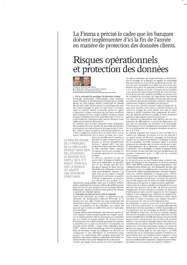 20140428 risques operationnels et protection des donnees