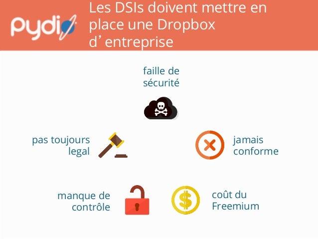 Les DSIs doivent mettre en place une Dropbox d'entreprise manque de contrôle  faille de sécurité  pas toujours legal  j...