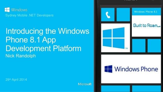 Windows Phone 8.1 29th April 2014 Sydney Mobile .NET Developers