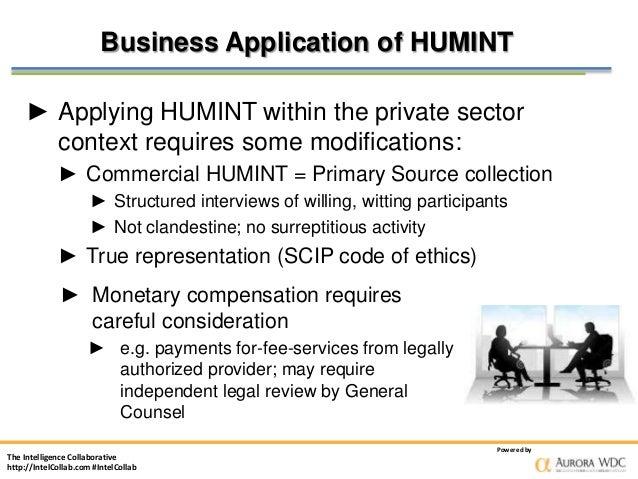 How Internal Human Intelligence Networks (HUMINT) Develop