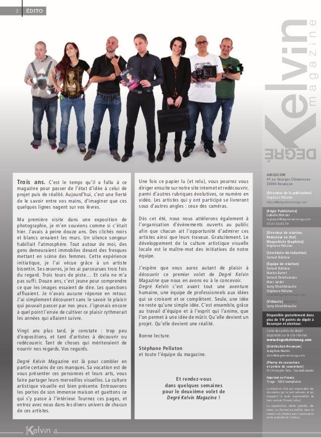 Eté 2014 - Degré Kelvin Magazine #1 Slide 2