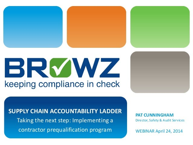 supply chain accountability ladder taking the next step: implementing a  contractor prequalification program pat cunningham