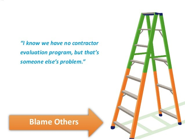"""blame others ‖ """"i know we have no contractor evaluation program, but that's  someone else's problem"""